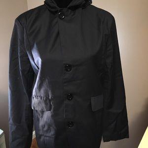 Men's VSKA Navy Hooded Blazer Style Jacket Small